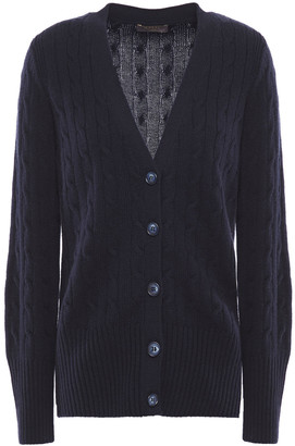 N.Peal Cable-knit Cashmere Cardigan
