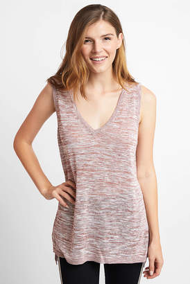 Neely Double V Sweater Tank Top Berry S