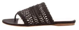 Giambattista Valli Woven Satin Slide Sandals w/ Tags