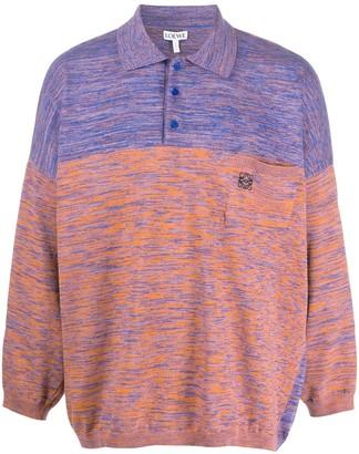 Loewe Long-Sleeve Colour-Block Polo Shirt