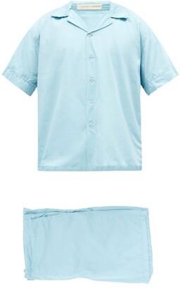 Cleverly Laundry - Superfine-cotton Sateen Pyjamas - Light Blue
