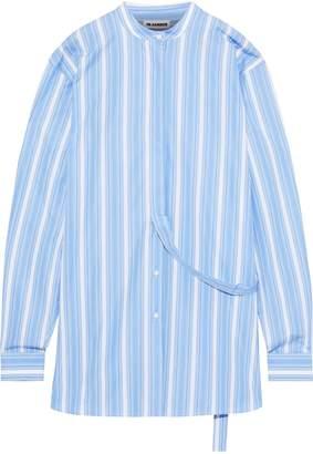 Jil Sander Oversized Striped Cotton-poplin Shirt