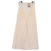 Mauro Grifoni Ecru Cotton Dress for Women