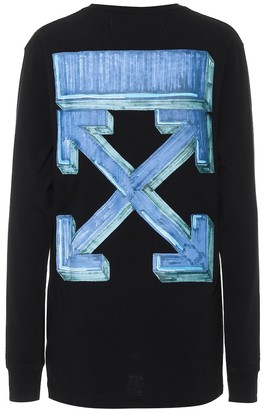 Off-White Marker Arrows cotton jersey top