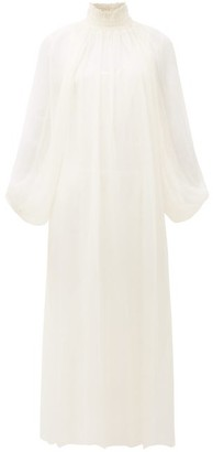 Mara Hoffman Edmonia Shirred-neck Balloon-sleeve Dress - Cream
