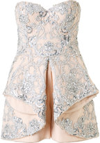 Mikael D. strapless embellished playsuit