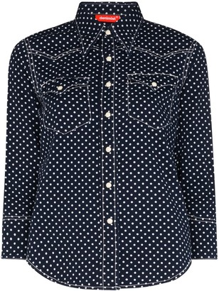 Denimist Polka Dot Denim Shirt