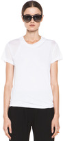 3.1 Phillip Lim Distressed Double Layered Tee in Optic White