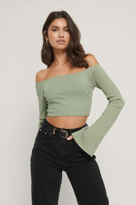 NA-KD Bare Shoulder Rib Top