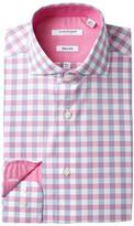Isaac Mizrahi Multi Check Slim Fit Dress Shirt
