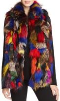 Jocelyn Multicolored Fur Vest