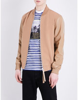 Blood Brother Sand Wool And Leather Bomber Jacket