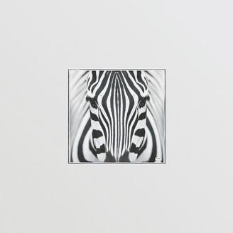 Burberry Zebra Print Silk Small Square Scarf
