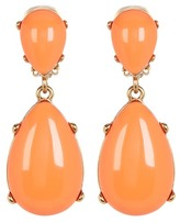 Kenneth Jay Lane Teardrop Coral Clip-On Earrings