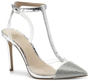 INC International Concepts Inc Women's Kaylona Cap-Toe T-Strap Pumps, Created for Macy's Women's Shoes