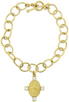 Cathy Waterman Diamond Juggler on Large Lacy Bracelet - 22 Karat Gold