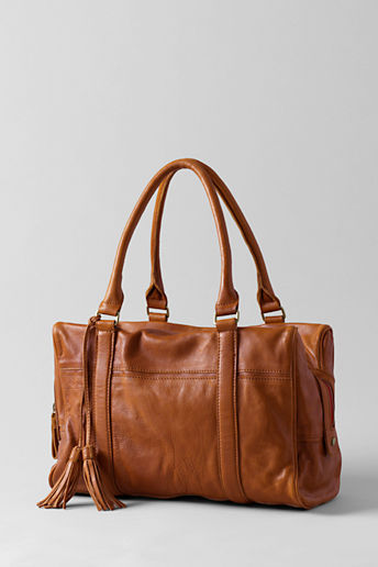 Lands' End Women's Leather Satchel