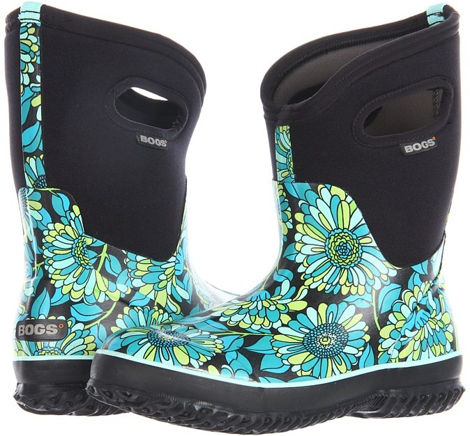 Bogs Classic Mid Mumsie (Black Multi) - Footwear