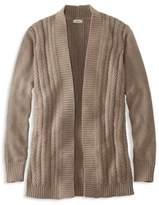 L.L. Bean Chevron Cable Sweater, Open Cardigan
