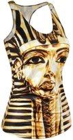 OLOD Women 3d Digital Printed Shirt Vest Tank Tops Sleeveless Tees Shirts