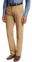 Peter Millar Collection Perfect Twill Flat-Front Trousers, Sandalwood