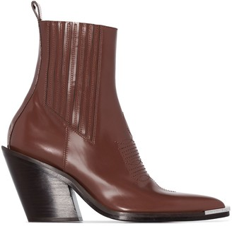 Paco Rabanne Pointed-Toe Ankle Boots