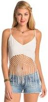 Indah Xolani Solid Camisole Fringe Top 8132281