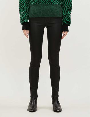 Frame Le Skin de Jeanne coated high-rise skinny wax cotton jeans