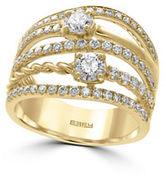 Effy DOro Diamond and 14K Yellow Gold Ring