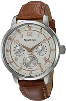 Nautica Men's 'NCT 15 MULTI II' Quartz Stainless Steel Casual Watch, Color:Brown (Model: NAD13544G)