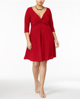 Love Squared Trendy Plus Size Knotted Fit & Flare Dress