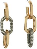 Lele Sadoughi Pave Link Earrings