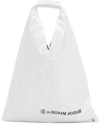 MM6 MAISON MARGIELA White Small Faux-Leather Triangle Tote