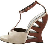 Bottega Veneta Satin T-Strap Wedges