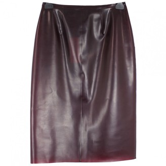 Burberry Burgundy Skirt for Women