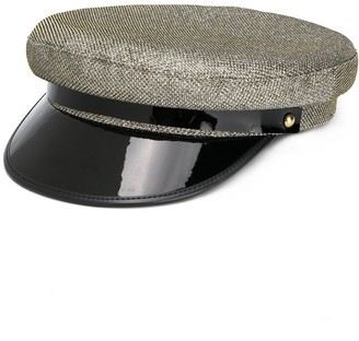 Manokhi Colour Block Military Hat