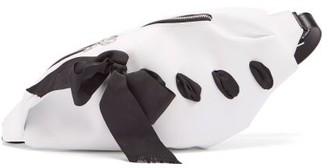 Marques Almeida Marques'almeida - Ribbon-trim Leather Belt Bag - Womens - White Multi