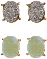 BaubleBar Meteorite Druzy Stud Earrings Set - Set of 2