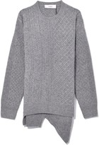 Pringle Cable Sweater in Light Grey Melange
