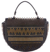 Christian Louboutin Spiked Leather Crossbody Bag