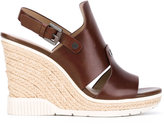 Calvin Klein Cog wedge sandals - women - Calf Leather/Leather/rubber - 36