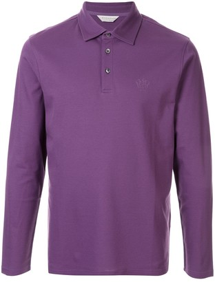 Gieves & Hawkes Logo Embroidered Polo Shirt
