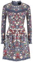Needle & Thread Floral Jet Embellished Long Sleeve Dress