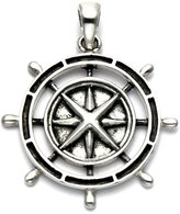 Wildthings Ltd. Stainless Steel Nautical Compass Pendant