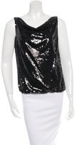 Alice + Olivia Embellished Cowl Neck Top