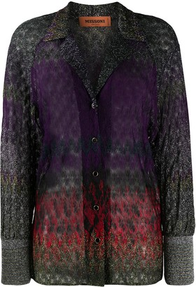 Missoni Metallic Zig-Zag Gradient Shirt