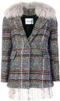 Ava Adore plaid embroidered jacket