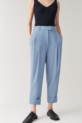 Cos Dropped Crotch Pants With Pleats