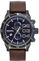 Diesel Double Down DZ4312 Men's Brown Leather Chronograph Watch