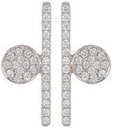 Bony Levy 18K White Gold Pave Diamond Abstract Geo Earrings - 0.22 ctw